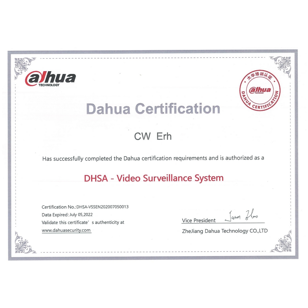 Annex C Dahua Certified Installer